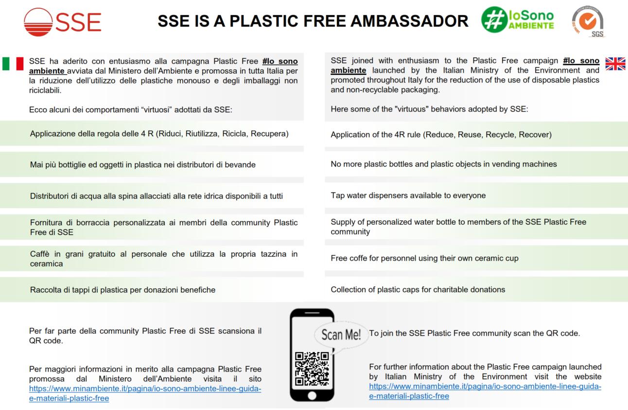 SSE IS A PLASTIC FREE AMBASSADOR